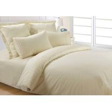 Комплект  постельного белья из перкаля с отделкой гипюром AB-SG 03 дуэт