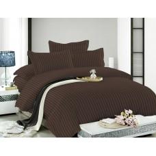 Комплект постельного белья из сатина Butterfly Шоколад полуторный