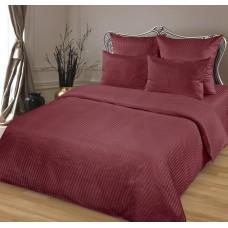 Комплект постельного белья из сатина Butterfly Бордо евро