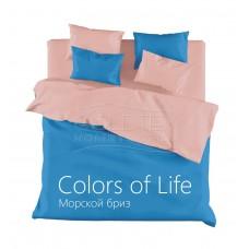 """Комплект постельного белья из сатина Colors of Life """"Морской бриз"""" дуэт"""