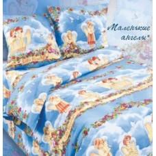 """Комплект постельного белья из поплина Кот Барбарис """"Маленькие ангелы"""" полуторный"""