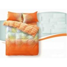"""Комплект постельного белья из сатина Soft-tex """"Солнечный рай"""" полуторный"""