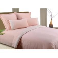 Комплект  постельного белья из перкаля с отделкой гипюром Valtery AB-SG 11 двуспальный