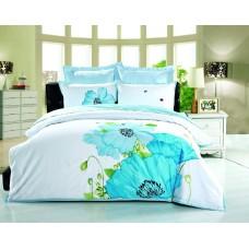 Комплект постельного белья из сатина с вышивкой Valtery 100-62 двуспальный