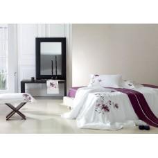 Комплект постельного белья из сатина с вышивкой Famille ES-03 полуторный