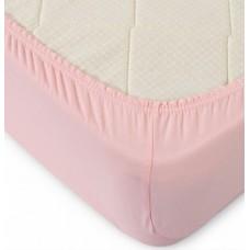 Простынь трикотажная на резинке 140*200 розовая