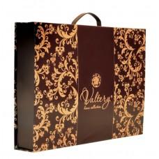 Комплект постельного белья из сатина с вышивкой и отделкой гобеленом Valtery 110-58 двуспальный