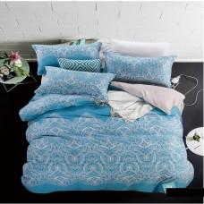 """Комплект постельного белья из сатина Soft-tex """"Каролина"""" евро"""