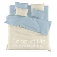 """Комплект постельного белья из сатина Colors of Life """"Минеральный коктейль"""" двуспальный"""
