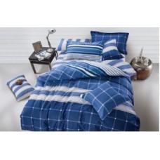 """Комплект постельного белья из сатина Soft-tex """"Индиго"""" евро"""