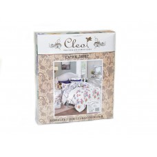 Комплект постельного белья из сатина Cleo SL-133 двуспальный