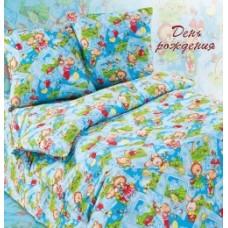 """Комплект постельного белья из поплина Кот Барбарис """"День рождения"""" в кроватку"""
