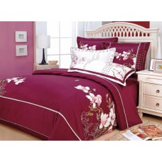 Комплект постельного белья из сатина с вышивкой Valtery 100-21 дуэт