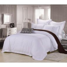 Комплект постельного белья из стаина с вышивкой Famille ES-20 двуспальный