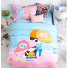 """Комплект постельного белья из сатина Soft-tex """"Поиграем"""" полуторный"""