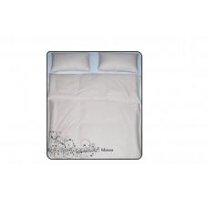Простынь сатиновая на резинке 180х200 мокко