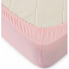 Простынь трикотажная на резинке 160*200 розовая