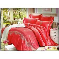 Комплект постельного белья из сатина с вышивкой Valtery 100-58 евро